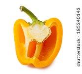 Sweet Orange Bell Pepper Cut I...