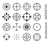 crosshair icon | Shutterstock .eps vector #185343743