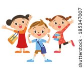 children going to the private... | Shutterstock .eps vector #185347007