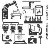 automation in production line... | Shutterstock .eps vector #185354123