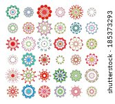large set of kaleidoscope... | Shutterstock .eps vector #185373293