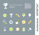 sport   athletic related icons. | Shutterstock .eps vector #185387267