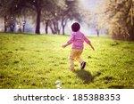 Little Boy  Running In The Par...