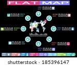 flat ui infographimap style