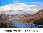 pyrenees mountains in winter ... | Shutterstock . vector #185410973