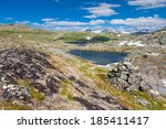 the sognefjellsvegen is the... | Shutterstock . vector #185411417