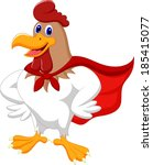 cartoon super rooster posing | Shutterstock .eps vector #185415077