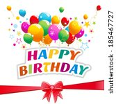 happy birthday concept | Shutterstock .eps vector #185467727