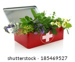 fresh herbs in first aid kit | Shutterstock . vector #185469527