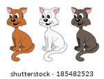 illustration collection   cute... | Shutterstock . vector #185482523