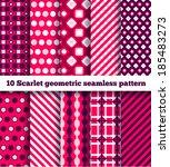 set of ten geometric pattern | Shutterstock .eps vector #185483273