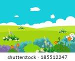 cartoon natural landscape | Shutterstock .eps vector #185512247