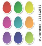 colored paper eggs.  raster... | Shutterstock . vector #185512553