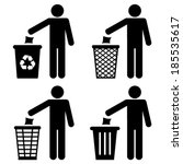 garbage recycling symbol | Shutterstock .eps vector #185535617