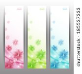abstract flower vector... | Shutterstock .eps vector #185537333