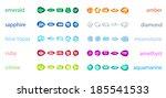 big set of variety gemstone.... | Shutterstock .eps vector #185541533
