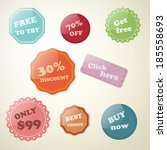 set of labels for stores  sales ... | Shutterstock .eps vector #185558693