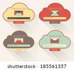 set of newsletter form...   Shutterstock .eps vector #185561357
