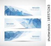 website vector header or banner ... | Shutterstock .eps vector #185571263