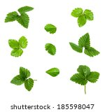 Collage Of Green Strawberry...
