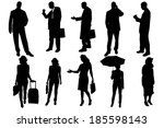 vector silhouettes of business... | Shutterstock .eps vector #185598143