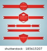 set of modern ribbons. esp10. | Shutterstock .eps vector #185615207