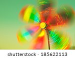Rotating Colorful Pinwheel...