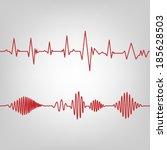seamless ecg graph | Shutterstock .eps vector #185628503