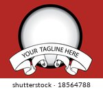 vector logo template with... | Shutterstock .eps vector #18564788