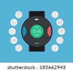 flat design style modern vector ... | Shutterstock .eps vector #185662943