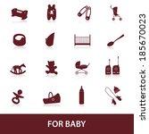 equipment for baby eps10   Shutterstock .eps vector #185670023
