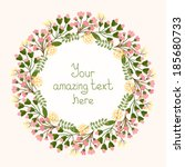 greeting card design with a... | Shutterstock .eps vector #185680733
