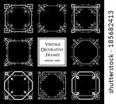 vintage decorative frames... | Shutterstock .eps vector #185682413