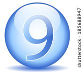 number nine button on white... | Shutterstock .eps vector #185688947