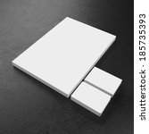 corporate business template | Shutterstock . vector #185735393
