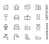 house and real estate icons | Shutterstock .eps vector #185737307