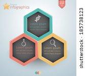 science infographics hexagon...