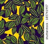 leaves background. vector... | Shutterstock .eps vector #185741957