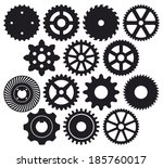 machine gear collection  wheel... | Shutterstock . vector #185760017