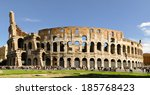 colosseum in rome  italy | Shutterstock . vector #185768423