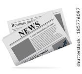 newspaper icon | Shutterstock .eps vector #185776097