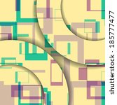abstract geometric shape... | Shutterstock .eps vector #185777477