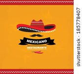 Menu mexican, template design.Vector illustration.