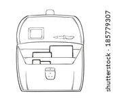 sketch of the open briefcase... | Shutterstock .eps vector #185779307