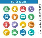 hotel travel accommodation... | Shutterstock . vector #185788427
