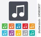 music note sign icon. musical... | Shutterstock .eps vector #185802857