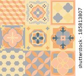hydraulic tiles vector pattern. | Shutterstock .eps vector #185813807
