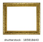 golden wood picture frame... | Shutterstock . vector #185818643