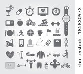 sports and healthy icons set on ... | Shutterstock .eps vector #185830973