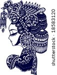 vector of facial makeup pattern ...   Shutterstock .eps vector #18583120